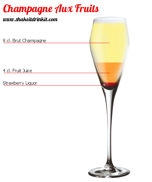 Fruits champagne cocktail recipe instructions and for Champagne drinks with fruit